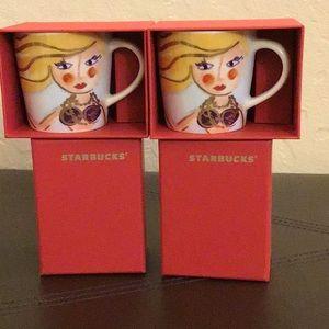 NWB Starbucks MERMAID espresso cups set of 2